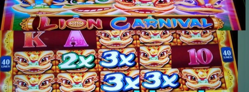 Konami * New Game * Lion Carnival | Big win | Multiplier huge | hot machine on fire