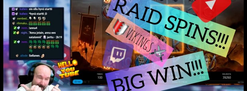 Raid Spins! Big Win From Vikings Slot!