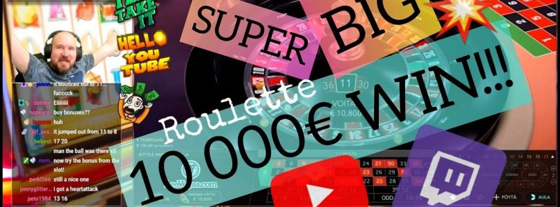 10 000€ WIN!! Super Big Online Roulette Hit!!
