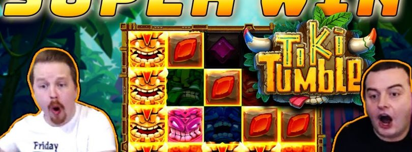 MEGA BIG WIN in Tiki Tumble slot