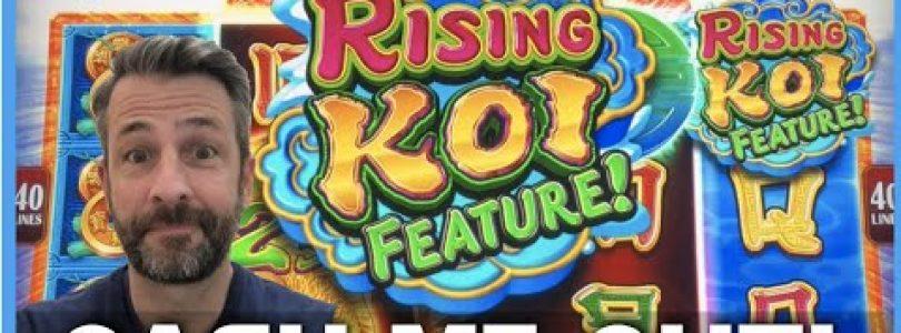 THOSE FISH SURE CAN PAY AMAZING! RISING KOI SLOT MACHINE BIG WIN!