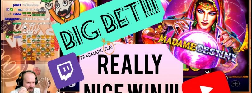 Big Bet!! Really Nice Win From Madame Destiny Slot!!