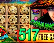 LONG PLAY 517 Spins  CHINA MYSTERY BIG WIN!!! 2c Konami Video Slot