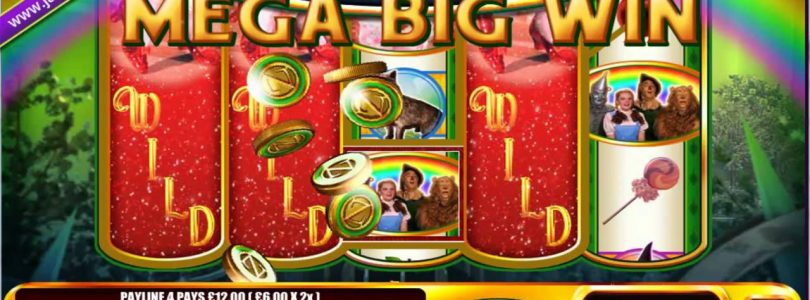 £380 ON WIZARD OF OZ — RUBY SLIPPERS™ MEGA BIG WIN (316 X STAKE) — SLOTS AT JACKPOT PARTY
