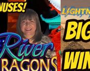 BIG WIN-Lightning Link Gold Sahara and River Dragons Bonuses.