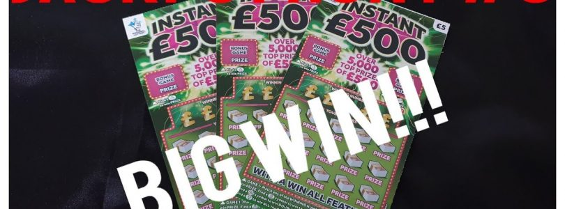 Scratchcard JACKPOT hunt! #3 BIG WIN!!!