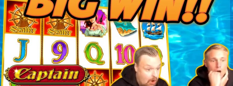 HUGE WIN!!! Captain Venture BIG WIN!! Gambling on Casino Games from CasinoDaddy