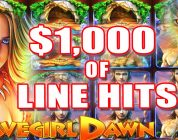 CAVEGIRL DAWN SLOT MACHINE BIG WIN | GREAT RUN OF LINE HITS Wms Slots