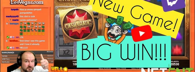 New Game! Big Win From Cash O Matic Slot!!