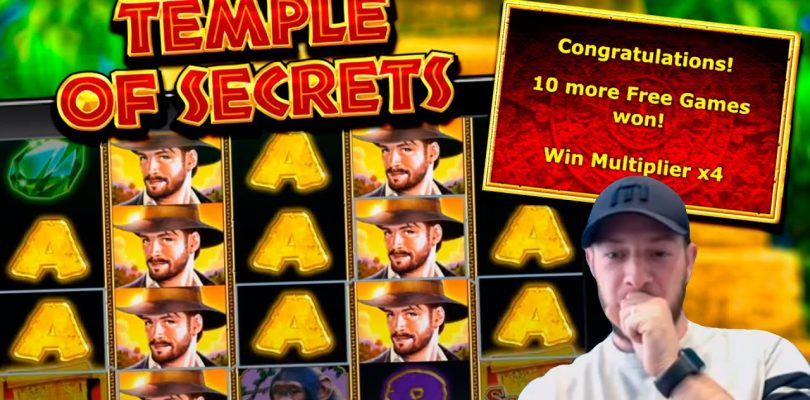 TEMPLE OF SECRETS SLOT! Retriggers For A Big Win!