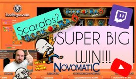 Scarabs!? Super Big Win From Book Of Ra 6!!