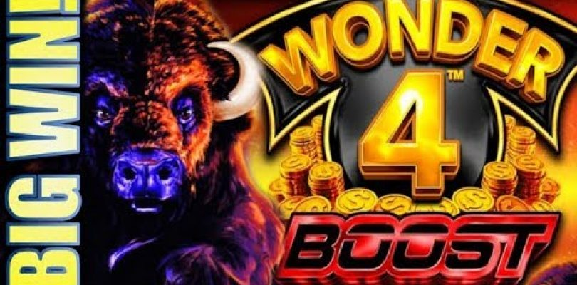 ★BOOSTED BIG WIN!!★ SUPER FREE GAMES! WONDER 4 BOOST Slot Machine Bonus