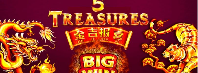 5 Treasures Slot Machine $8.80 Max Bet Bonus & BIG WIN | Season 2 EPISODE #26