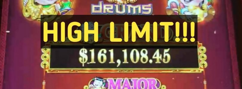 HIGH LIMIT DANCING DRUMS…. BONUS, BIG WINS, CHASING THE FULL POT
