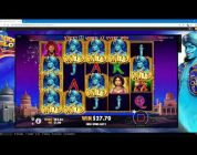 3 Genie Wishes Slot Bonus — Sticky Wilds BIG WIN!!