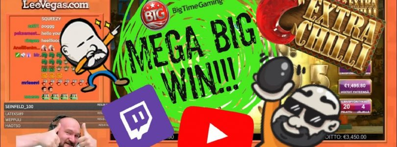 Mega Big Win From Extra Chilli Slot!!