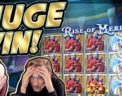 HUGE WIN!!! Rise of Merlin BIG WIN!! Casino slots from CasinoDaddy Live Stream