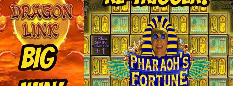 BIG WIN ON FIRE BALLS & RE-TRIGGER PHARAOH'S FORTUNE