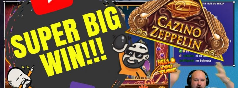 And No Wildline! Super Big Win From Cazino Zeppelin Slot!!