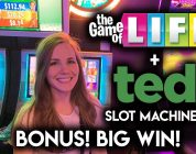 BIG WIN!! Ted Slot Machine! Getting the BONUS right away on Game of Life!
