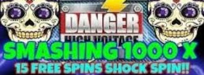 "DANGER HIGH VOLTAGE (BIG TIME GAMING)  SHOCK ""HUGE"" WIN WHEN YOU LEAST EXPECTED IT!!!!! PART 1 OF 2"