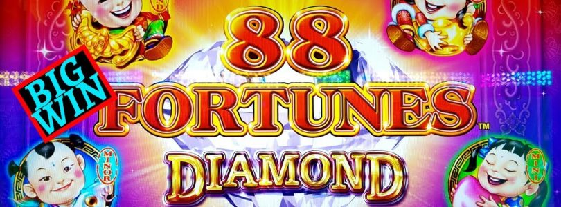 ✪NEW 88 Fortunes DIAMOND 3 Reel Slot Machine ✪BIG WIN✪ | Hercules Slot Machine Live Play