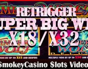 TIMBERWOLF Legends Slot Retrigger Super Big Win Bonus ~ x18 & x32  Pick