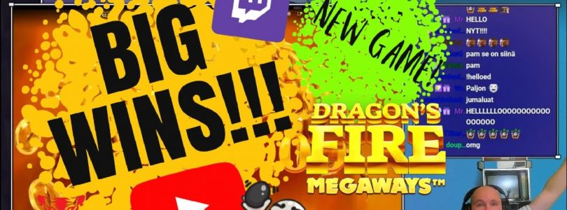 New Game!! Big Wins From Dragon's Fire MegaWays!!