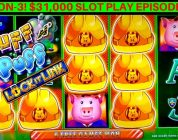 Huff N Puff Slot Machine Max Bet Bonus & Big Win | Season 3 | EPISODE #27