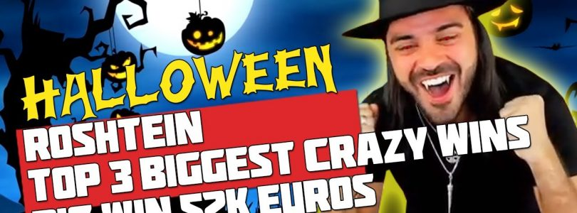 HALLOWEEN ROSHTEIN | TOP 3 BIGGEST CRAZY WINS | BIG WIN 52K EUROS | BOOK OF DEAD SLOT