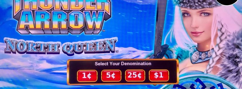 ⭐️THUNDER ARROW SUPER BIG WIN⭐️ NEW KONAMI SLOT FIRST TRY BONUS & FREE GAME FEATURES SLOT MACHINE