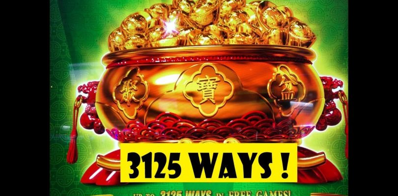 ★WOW ! 3,125 WAYS !! BIG WIN !!★BA FANG JIN BAO Slot (KONAMI) NEW GAME☆彡San Manuel 栗スロ