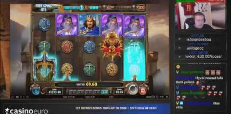 Huge win ★ The Sword of the Grail ★ PlayNgo slot played on Vihjeareena´s stream!