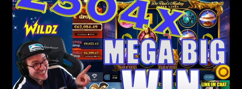 MEGA HUGE WIN — 2504X — DA VINCI'S Mystery Super Lines — RedTiger — UNBELIEVABLE — undless Freespins