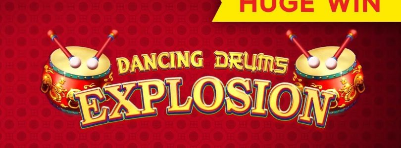 Dancing Drums Explosion Slot — BIG WIN — $10 MAX BET BONUS!