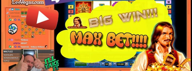 Max Bet!! Big Win From Captain Venture Slot!!