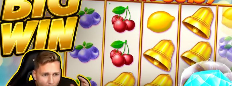 BIG WIN!!! Extra Juicy BIG WIN — Online slot played on CasinoDaddys stream