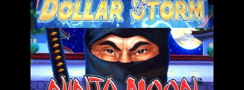 ★SUPER BIG WIN ! NEW GAME !★NINJA MOON  (New Style of Lightning Link) (DOLLAR STORM) Slot Live Play