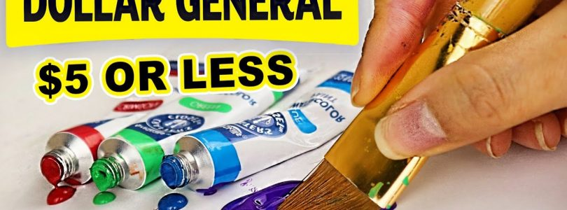 Big Win?! Trying Dollar General's Ridiculously CHEAP Art Supplies…