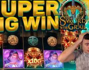 MASSIVE WIN ON THE SWORD AND THE GRAIL (NEW PLAY N GO RELEASE)