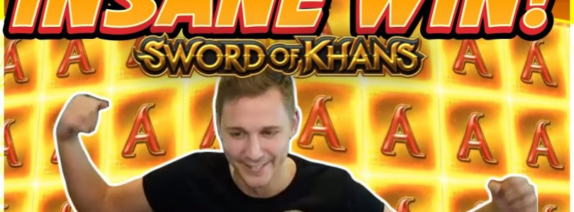 INSANE WIN! Sword Of Khans Big win — NEW SLOT — Casino Games from Casinodaddy Live Stream