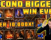 Dead or Alive 2 SECOND BIGGEST WIN EVER! OVER 10.000x! INSANE WILDLINE HIT!