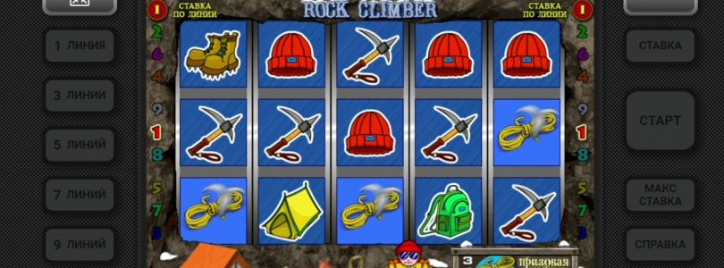 Casino Riobet play Rock Climber, Казино Риобет игра альпинист-скололаз