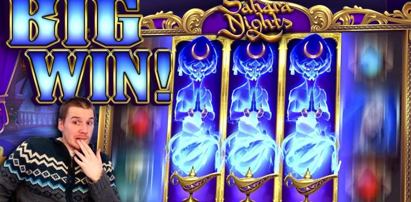 BIG WIN on Sahara Nights Slot — £6 Bet!