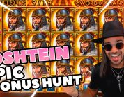 ROSHTEIN Huge win 35.000 € on Sword of  Khans  slot  — Epic Bonus Hunt on Stream