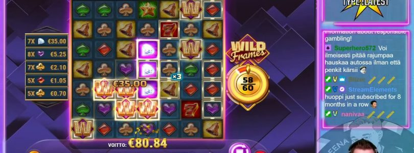 ★ Big Win on Wild Frames ★ Play´n GO slot, played on Vihjeareena´s stream