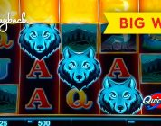 WOW, WHAT A BONUS! Quick Hit Wolf Mountain Slot — BIG WIN!
